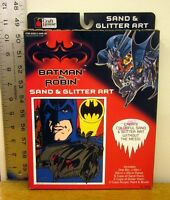 Batman & Robin Sand & Glitter Art Comics Kit 1997 Painting George Clooney