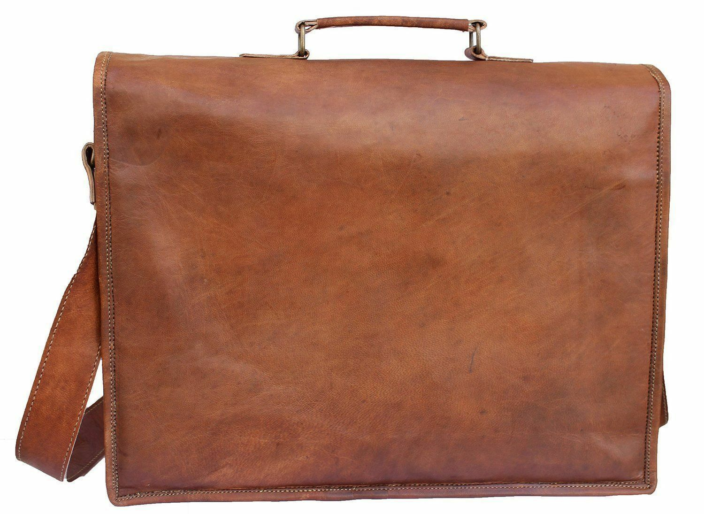 Langlebige Langlebige Langlebige Leder Vintage Laptop Messenger Handtasche Aktentasche Handmade | Modern Und Elegant In Der Mode  fba092