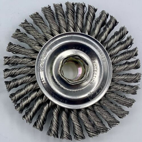 "NEW Weiler 13138 Roughneck Wheel Brush 4"" Diam SHIPS FREE!! 20000 RPM"