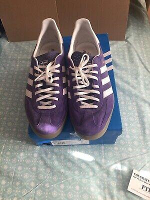 Oportuno Cuota de admisión Retirado  Adidas Gazelle Indoor UK11 Purple Originals Og Deadstock | eBay
