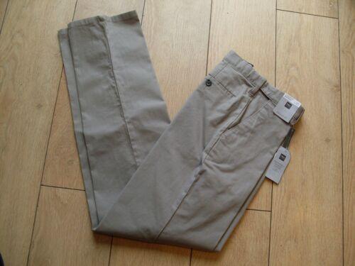 M /& S Homme Coupe Standard Active Taille Coton Pantalon Chino-Naturel-W32 L33-Bnwt