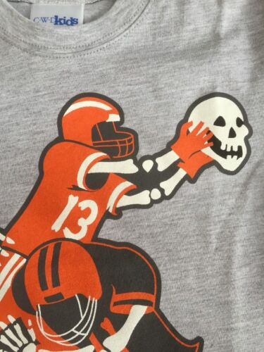 Boys Boutique CWDkids  4 5 Halloween Football Skeleton Shirt Top NEW 4T S//S