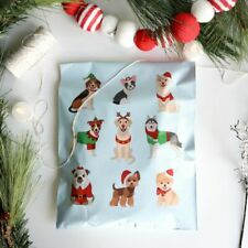 25 Qty Designer Poly Mailers 10x13 Envelopes Bags Christmas Dogs Pups Holiday