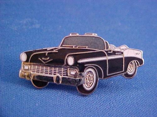 1956 Chevy BEL AIR convertible hat//jacket pin 56 BelAir