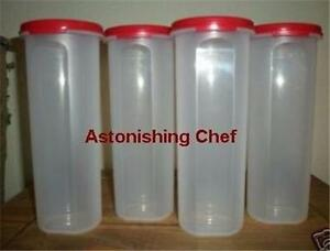TUPPERWARE-MODULAR-MATES-ROUND-4-SET-RED-4-CONTAINERS