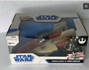 Star-Wars-Green-Leader-s-A-Wing-Fighter-LEGACY-COLLECTION-Walmart-Exclusive-NIB