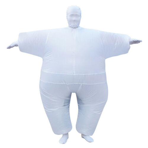 Halloween Lovely Funny Inflatable Muscle Man Sumo Costume Adult Size Body Suit