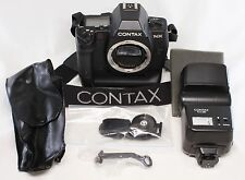 Excellent Contax NX 35mm SLR Body Only w/ Battery Holder P-10 & TLA280 Flash