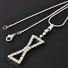 Brilliant Women White GF/Silver Rainbow CZ Pendant Necklace Free Shipping