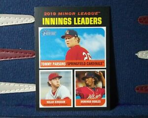 2020-Topps-Heritage-Minors-192-Innings-Leaders-Tommy-Parsons-Cardinals
