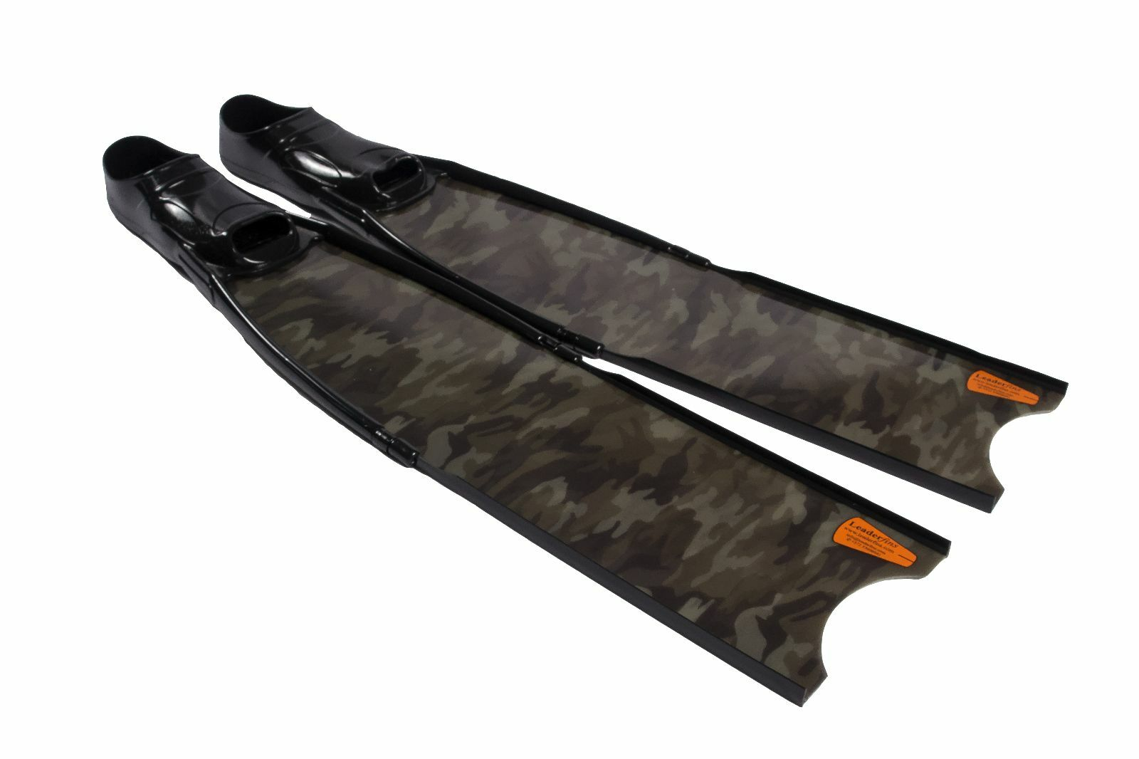Leaderfins Green Camouflage Freediving and Spearfishing  Fins  at cheap