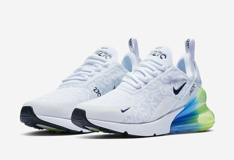NIKE AIR MAX 270 Se Blanc Lime Blast  nous Hommes Taille 13