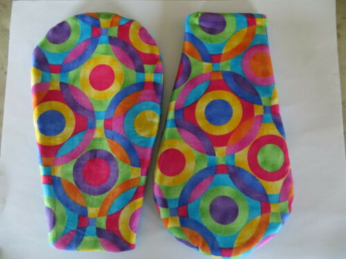 Set of 2 Handmade Finger and Thumb Mini Pot Holders Oven Hot Pads Microwave