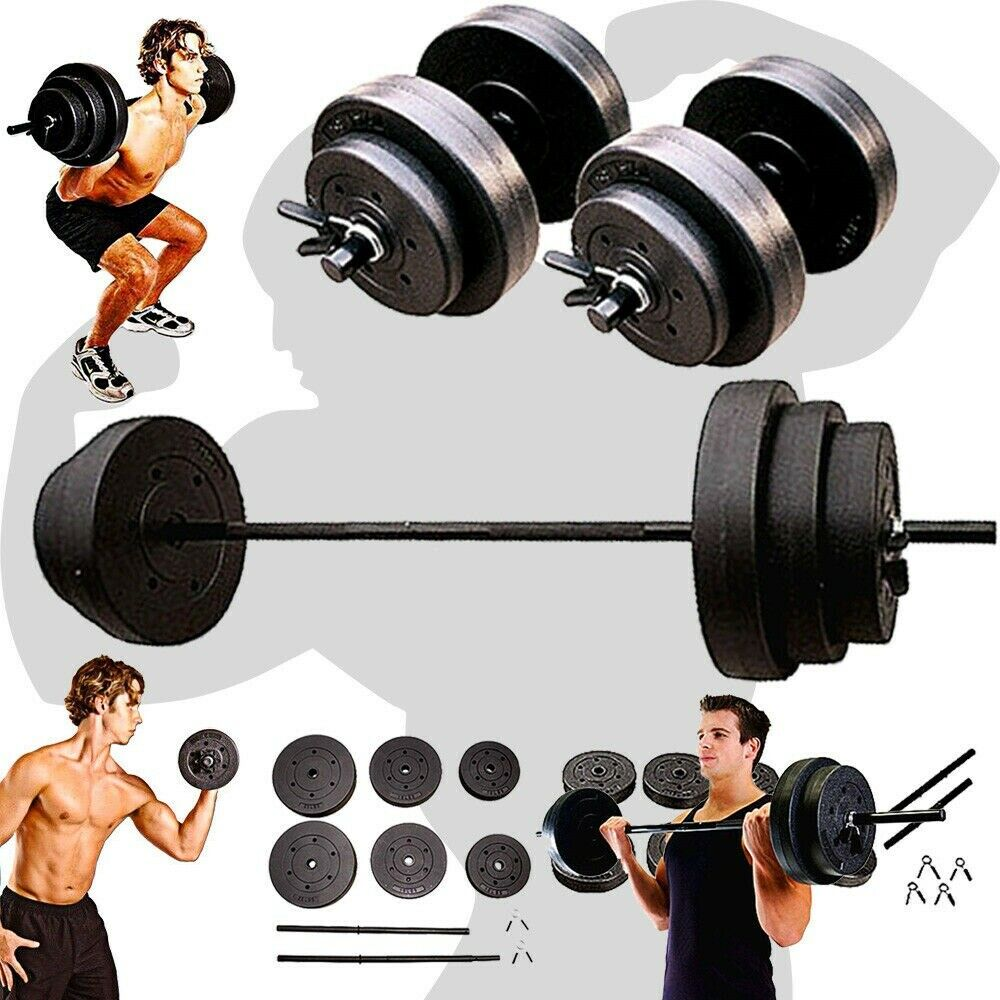 WEIGHT  SETS 140LBS Barbell Dumbells Home Gym Fitness Equipment Build Muscle New  high-quality merchandise and convenient, honest service
