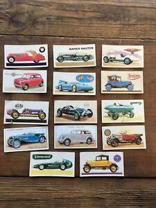 Vintage-Motoring-Cigarette-Cards-Miller-Frazer-Nash-Vanwall-Napier-Bluebird