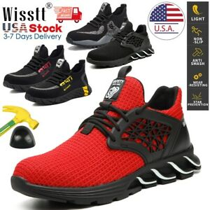Details about  /Men/'s Safety Sport Shoes Indestructible Steel Toe Work Boots Light Sneakers