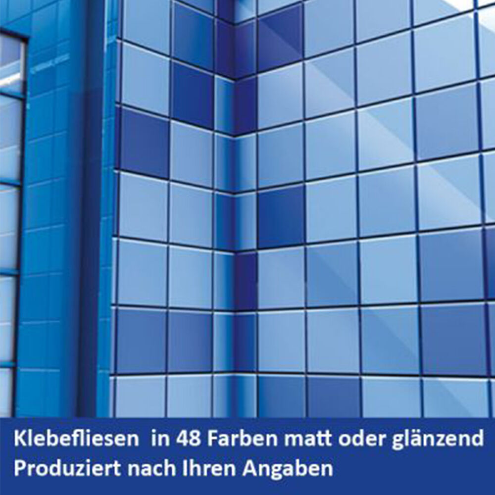 10 m² Fliesenaufkleber Fliesendekor für Küche oder Bad wählen Sie aus 48 Farben