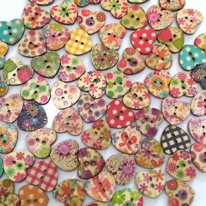 LOT de 50 BOUTONS FLEURS FLOWER 2 TROUS acrylique 12mm multicolores tricot