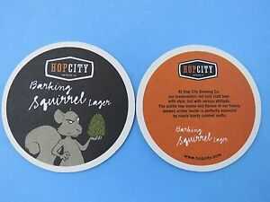 Canada Beer Bar Coaster ~*~ HOPCITY Brewing Co Hopbot IPA ~ Mississauga ONTARIO