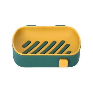 Draining Soap Dish Holder Free Standing Home Bathroom Bath Shower Plate Case Acc Ebay