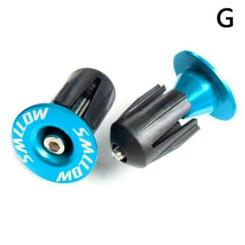 1 Pairs Aluminum alloy Bike Grips Bar End Caps Plug For MTB Bicycle Handle J9D7