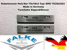2 unidades hobelmesser madera-her 75x18x3 tipo: Eho 75/222/223