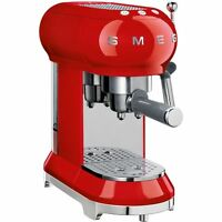 Smeg Ecf01rduk 50's Retro Style Espresso Coffee Machine Red 2 Year Guarantee