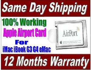 Apple-Flughafen-Kabellose-Karte-100-Aktiv-fuer-iMac-iBook-G3-G4-eMac