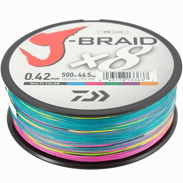 Daiwa J-Braid - X8 - Multicolour - 500m
