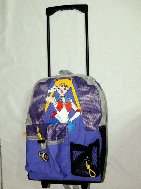 fe233776b0ce With Tags Vintage Sailor Moon Blue Rolling Backpack 17