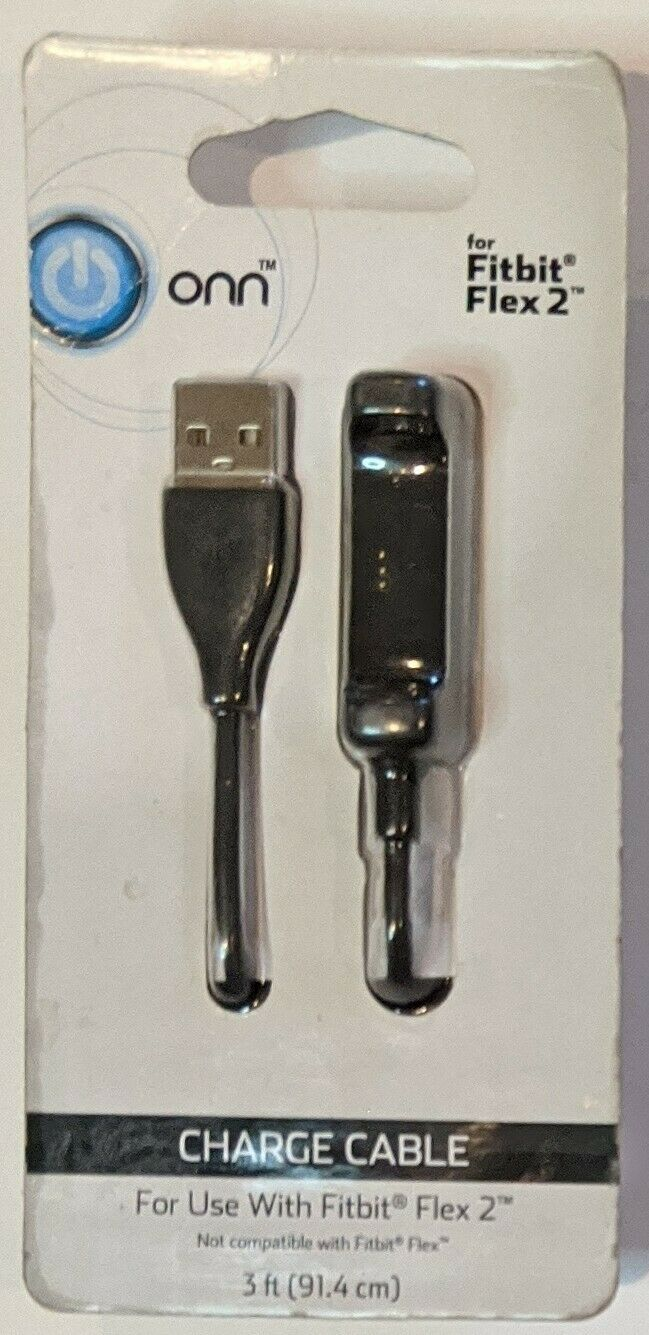 New Onn Fitbit Charge 2 Charger Cable Cord 3 ft Foot Feet ONA17WA027 Black