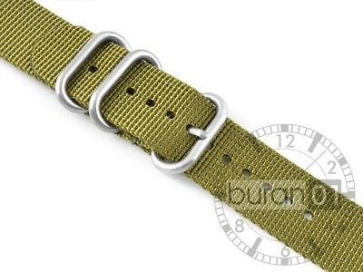 Uhrenarmband Uhrenarmbänder Wasserfest CUT Militär  Strong dunkelgrün  20mm
