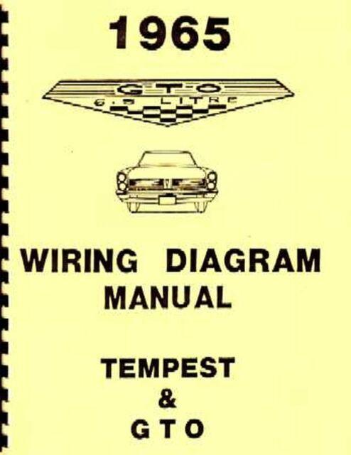 Oem Repair Maintenance Wiring Schematics Bound Pontiac Gto  Lemans  Tempest 1965