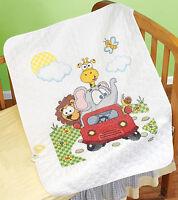 Cross Stitch Kit Janlynn Animal Fun Ride Baby Quilt 021-1776