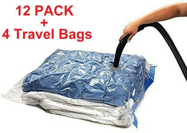 Vacuum Bag Storage Organizer Space Saving Bags Large Travel Compressed Clothes