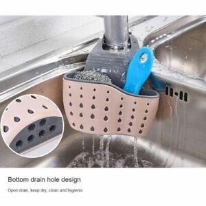 Kitchen-Organiser-Sink-Caddy-Basket-Dish-Cleaning-Sponge-Holder-Soap-Dispenser