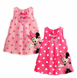 Kids-Baby-Girls-Skirt-Dress-Cute-Minnie-Mickey-Mouse-Toddler-Clothes-Age-9M-5Y