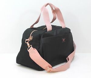 HUGO BOSS LADIES PINK BLACK DESIGNER GYM BAG CASUAL OVERNIGHT ... c538d84ddc