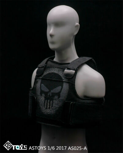 HOT FIGURE TOYS ASTOYS 1//6 AS025 A//B style punisher skull vest