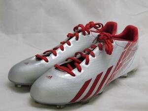 ab98409a3 adidas adizero 5-Star 2.0 Football Cleats Men s Size 13.5 Silver Red ...