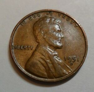 Penny Coin   *FINE OR BETTER*   **FREE SHIPPING** 1951 P Lincoln Wheat Cent