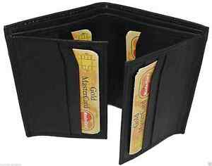 MENS RFID BLOCKING REAL LEATHER SMALL WALLET PURSE MULTI CREDIT CARD HOLDER 87