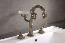 Edler Designer Wasserhahn Drache 3-Loch Mischer Armatur Nostalgie Wasserhahn