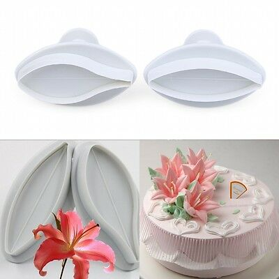 New Lily Fondant Cake Cookie Gum Paste Plunger Cutter Cake Decorating Mold