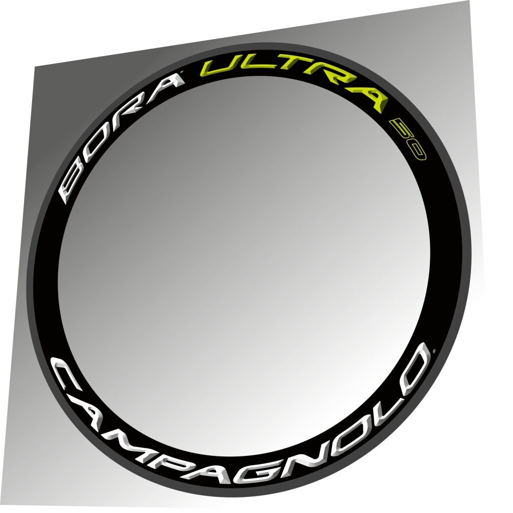 CAMPAGNOLO BORA ULTRA 50 2015 WHITE GREEN 3D RIM DECAL SET FOR 2 RIMS