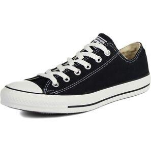 Converse Unisex Chuck Taylor All Star Low Top Sneakers Black, US Men's 6/Women's 8