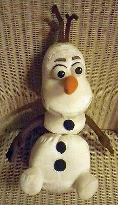 """13"""" Olaf Pupazzo Di Neve Da Disney Congelato Giocattolo Morbido Grande. Prodotto Originale Disney- Facile Da Riparare"""