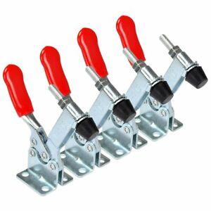 E-TING-4Pcs-Hand-Tool-Toggle-Clamp-201B-Antislip-Red-Horizontal-Clamp-201-B
