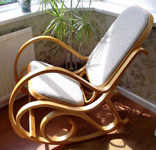 Magnificent Bentwood Rocking Chair Birch Wood Rattan Thonet Living Bed Room Conservatory Short Links Chair Design For Home Short Linksinfo