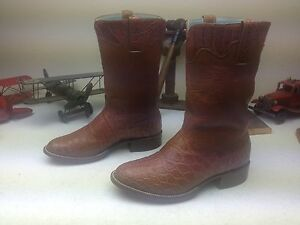 custom monogramed d w alligator leather western engineer